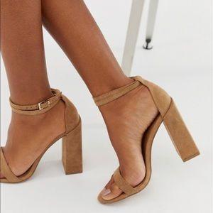 BRAND NEW!!!!!!ASOS Camel Block Heels